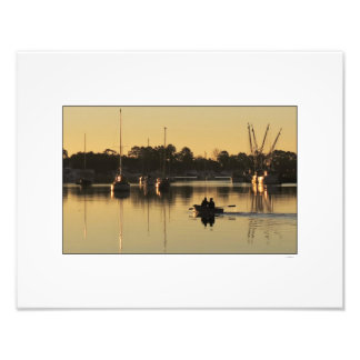 Georgetown Harbor Boats at Sunrise Photo Print