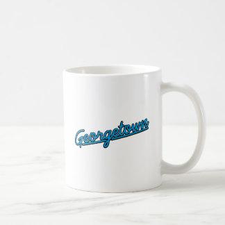 Georgetown in cyan classic white coffee mug