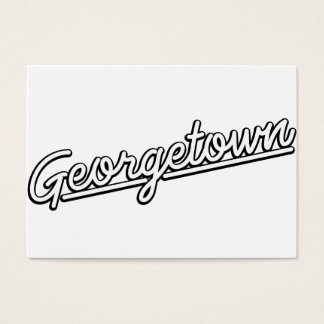 Georgetown in white business card