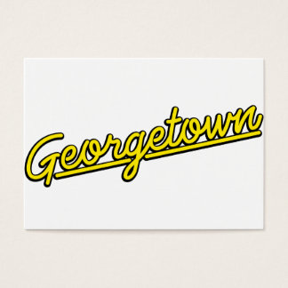 Georgetown in yellow business card