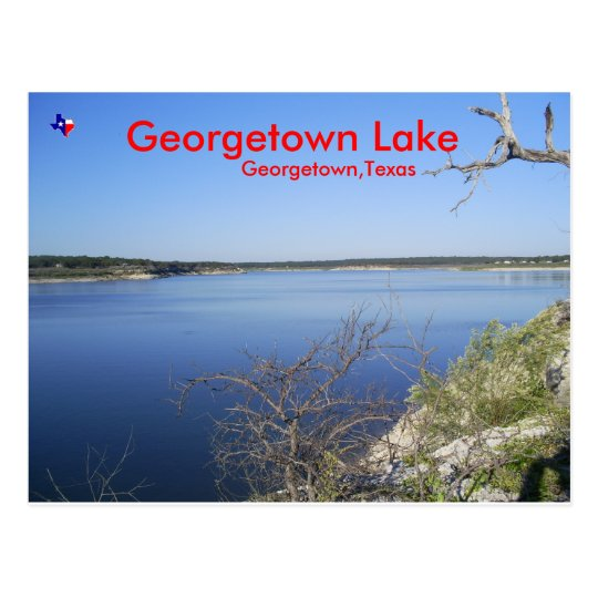 Georgetown Lake. Georgetown Texas Postcard