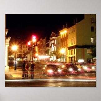 Georgetown Night 8x10 Poster