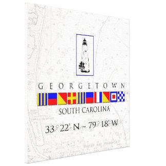 Georgetown SC Marine Signal Flag Canvas Print