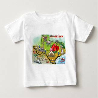 Georgetown Texas Cartoon Map Baby T-Shirt