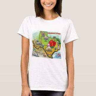 Georgetown Texas Cartoon Map T-Shirt