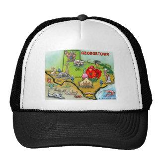 Georgetown Texas Cartoon Map Trucker Hat
