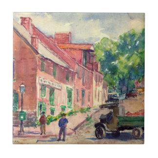 Georgetown vieja DC 1910 Azulejo Cerámica