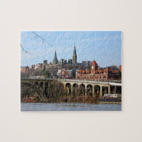 Georgetown Waterfront Washington DC Jigsaw Puzzle