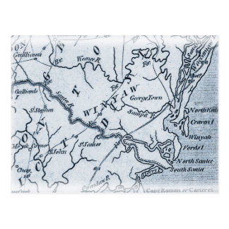 Georgetown Winyah South Carolina Map Post Card