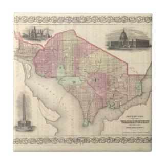 Georgetown y la ciudad de Washington Azulejo Cuadrado Pequeño