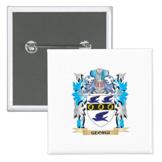 Georgi Coat of Arms - Family Crest Pinback Buttons