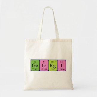 Georgi periodic table name tote bag