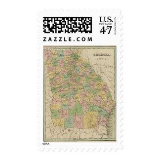 Georgia 10 postage stamp