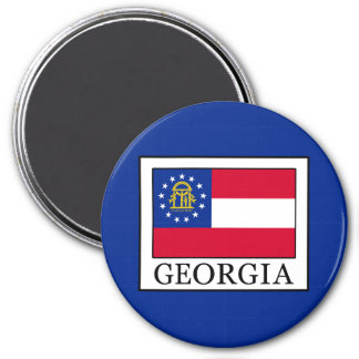 Georgia 3 Inch Round Magnet