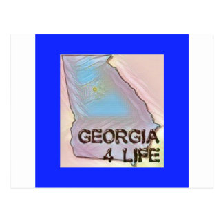 """Georgia 4 Life"" State Map Pride Design Postcard"