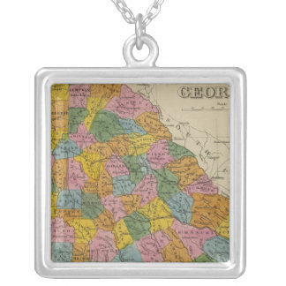 Georgia 4 silver plated necklace