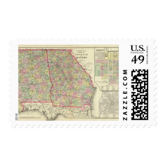 Georgia, Alabama Stamp