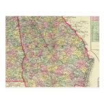 Georgia, Alabama Tarjeta Postal