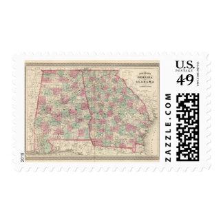 Georgia and Alabama 2 Postage Stamp