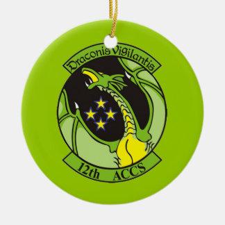 Georgia ANG 12th Airborne ACCS Ceramic Ornament