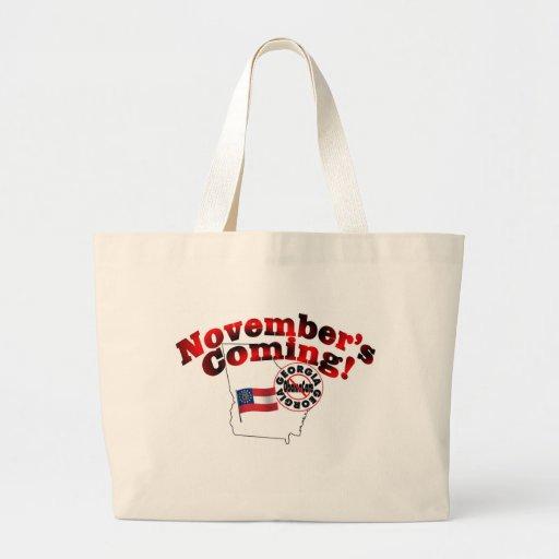 Georgia Anti ObamaCare – November's Coming! Tote Bags