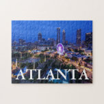 "Georgia, Atlanta, Centennial Olympic Park Jigsaw Puzzle<br><div class=""desc"">Georgia,  Atlanta,  Centennial Olympic Park,  elevated city view with Ferris wheel,  dusk 