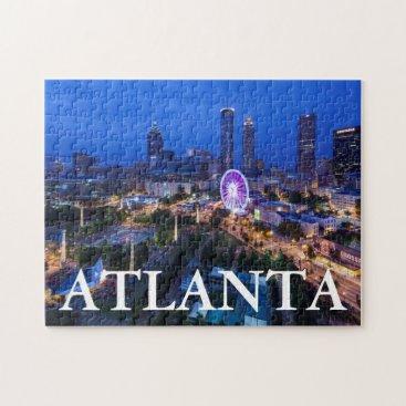 Christmas Themed Georgia, Atlanta, Centennial Olympic Park Jigsaw Puzzle