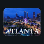 "Georgia, Atlanta, Centennial Olympic Park Magnet<br><div class=""desc"">Georgia,  Atlanta,  Centennial Olympic Park,  elevated city view with Ferris wheel,  dusk 
