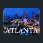 "Georgia, Atlanta, Centennial Olympic Park Magnet<br><div class=""desc"">Georgia,  Atlanta,  Centennial Olympic Park,  elevated city view with Ferris wheel,  dusk | Walter Bibikow / DanitaDelimont.com</div>"