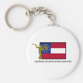GEORGIA ATLANTA NORTH MISSION LDS CTR BASIC ROUND BUTTON KEYCHAIN