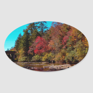 Georgia Autumn Oval Sticker
