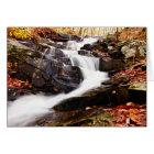 Georgia Autumn Waterfall Card