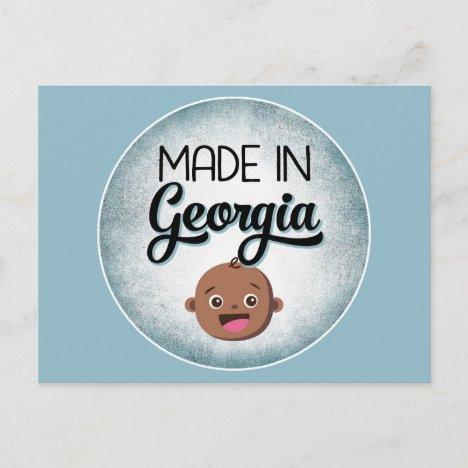 Georgia Baby Funny Blue African American Black Postcard