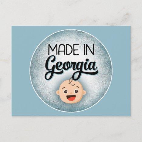 Georgia Baby Funny Blue New Boy Postcard