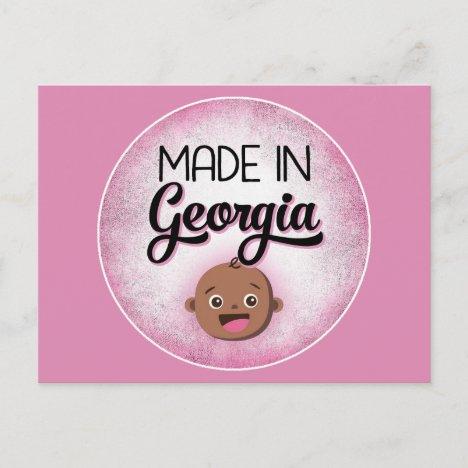 Georgia Baby Funny Pink African American Black Postcard