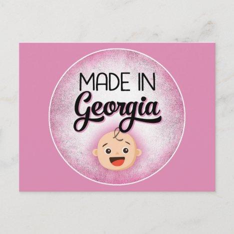 Georgia Baby Funny Pink New Girl Postcard