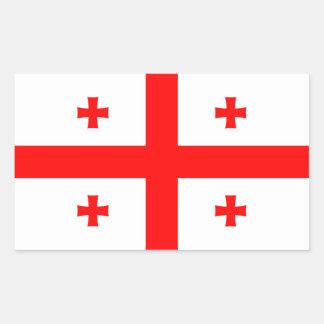 Georgia - bandera georgiana pegatina rectangular