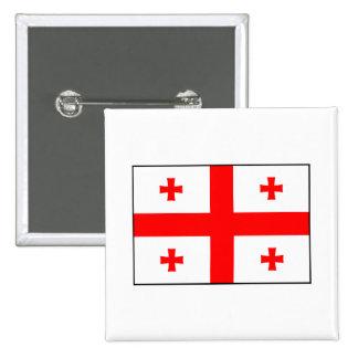 Georgia - bandera georgiana pin cuadrada 5 cm