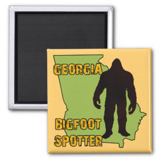 Georgia Bigfoot Spotter 2 Inch Square Magnet
