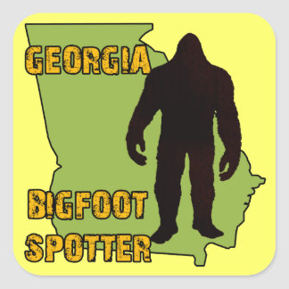 Georgia Bigfoot Spotter Square Sticker