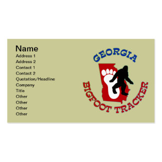 Georgia Bigfoot Tracker Business Card Template