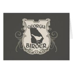 Greeting Card with Georgia Birder design