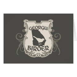 Greeting Card with Georgia Birder design