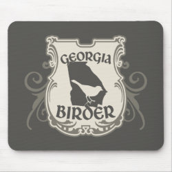 Mousepad with Georgia Birder design