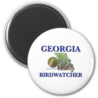 Georgia Birdwatcher 2 Inch Round Magnet