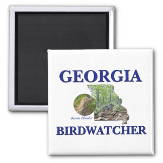 Georgia Birdwatcher 2 Inch Square Magnet