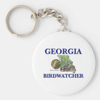 Georgia Birdwatcher Basic Round Button Keychain