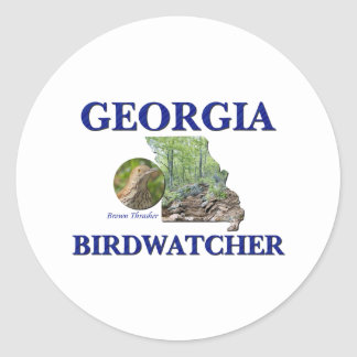 Georgia Birdwatcher Classic Round Sticker