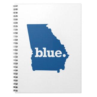 GEORGIA BLUE STATE SPIRAL NOTEBOOK