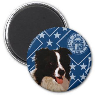 Georgia Border Collie Magnet